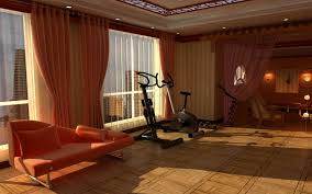 interior designs home gym design ideas feature red vintage sofa