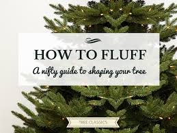 how to fluff your artificial tree