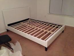premier zurich queen upholstered platform bed white leather