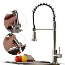 Spring Pull Down Kitchen Faucet Stainless Steel Pull Out Kitchen Faucet Spring Pull Down Kitchen