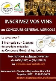 chambre d agriculture 08 inscrivez vos chagne au concours général agricole 2018
