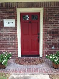 what color door and exterior goes with red brick google search