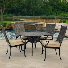 Patio Dining Set by Carondelet 5 Piece Wicker Patio Dining Set W 48 Inch Round Patio