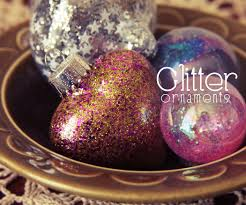 glitter ornament diy 5 steps with pictures