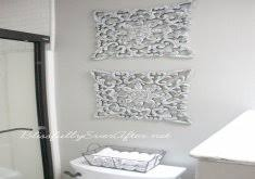 great bathroom wall accents the trellis stencil from cutting edge