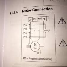 wiring how to wire 3 phase motor to vfd electrical engineering