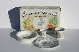 beatrice potter rabbit nursery set wedgwood the