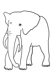 funny elephant coloring pages