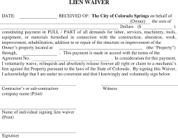 waiver of lien template colorado lien waiver for free tidyform