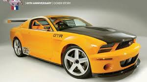 the ford mustang gt r was the pony car s anniversary gift to