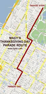 macys thansgiving day parade route map turn by turn