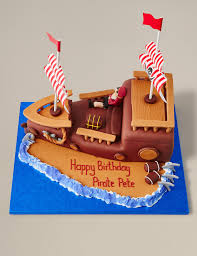pirate ship cake m u0026s