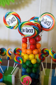 Ideas For Centerpieces For Birthday Party by 30th Birthday Favor Centerpieces 30th Birthday Party Ideas