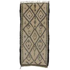 Moroccan Rugs Beni Ourain Mid Century Modern Beni Ourain Moroccan Rug With Tribal Symbols