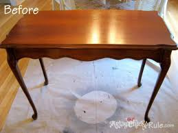 Old Wooden Coffee Tables by Update Old Wood Stained Furniture Easily U0026 Quickly Artsy