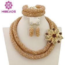 fashion jewelry necklace set images Luxury dubai gold bridal jewelry set african beads costume jewelry jpg