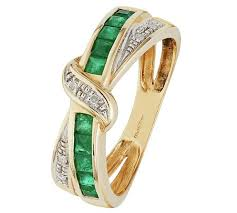 emerald rings uk buy revere 9ct gold emerald and diamond crossover eternity ring at