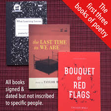 Books About Flags Autographed Poetry Book Bundle Taylor Mali
