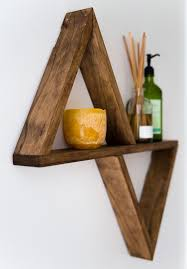 Wooden Shelves Diy by Best 25 Triangle Shelf Ideas On Pinterest Large Crystals Buy