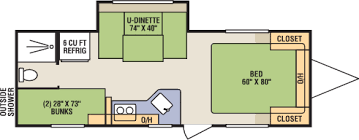 triple bunk travel trailer floor plans clite ultra lightweight travel trailer floorplans photos