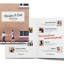 Magazine Wedding Programs Connect Your Wedding Guests Uncommon Events