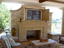 Decorative Flat Screen Tv Covers Tv Hidden Behind Cabinet Doors Living Room Contemporary With