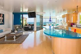 modern island kitchen at dream beach house altamira residence in