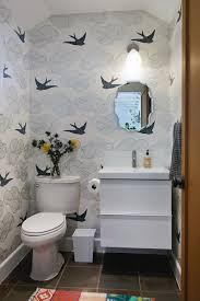 Designer Bathroom Wallpaper Best 25 Small Bathroom Wallpaper Ideas On Pinterest Half