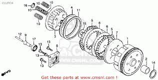 honda cm250c custom 1982 c usa clutch schematic partsfiche