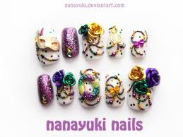 mardi gras nail mardi gras nails by nanayuki on deviantart