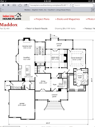 southern living floor plans maddox house plan from southernliving com 1st floor home