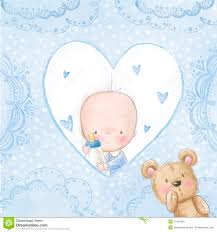 Greeting Cards For Invitation Baby Shower Greeting Card Baby Boy With Teddy Love Background For
