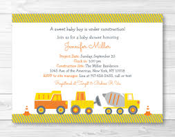 cute construction truck baby shower invitation construction
