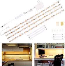 led kitchen cupboard cabinet lights wobane cabinet lighting kit led lights bar counter lights for kitchen cupboard desk monitor back shelf 6 6 light