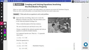 a1 2 2 creating and solving equations part 1