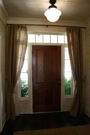 Door Window Curtains Small Front Door Window Coverings Sidelight Curtains Walmart Side Blinds