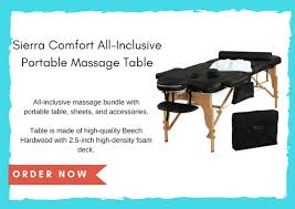 sierra comfort all inclusive portable massage table the best portable massage table for 2018 top 5 best products