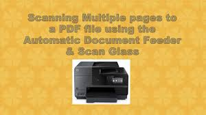 hp officejet pro 8620 8630 scan multiple pages using the adf