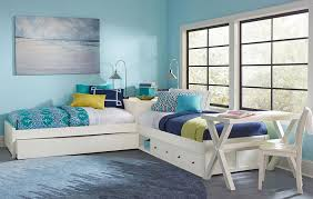caitlin white twin size corner unit beds kids pinterest