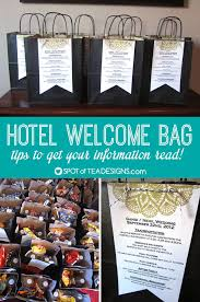 wedding welcome bags contents hotel welcome bags tips to get your information read spot of