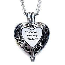 memorial necklace for ashes urn locket memorial necklace pendant ashes keepsake forever in my