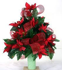 beautiful red poinsettia u0027s christmas cemetery flower arrangement
