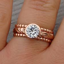 What Hand Does A Wedding Ring Go On by New Rose Gold Wedding Ring Set With And The Same Set On My Hand
