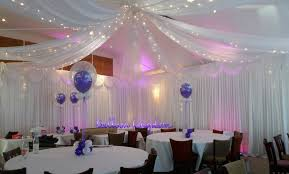 draped ceiling white wall drapes venue dressing wrasbury datchet