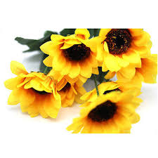 artificial sunflowers 7 heads artificial sunflowers posy prom flower bouquet home garden