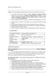One Year Experience Resume Format For Net Developer Hadoop Resume Doc Virtren Com