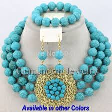 bead necklace style images Wholesale splendid nigerian wedding beads jewelry set african jpg