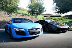 all black lamborghini file matte blue audi r8 and matte black lamborghini aventador
