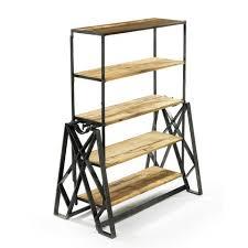 Iron Folding Bookcase Bookshelves U0026 Shelving