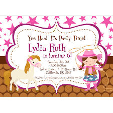 Birthday Invitation Card Maker Cowgirl Birthday Party Invitation Vertabox Com